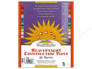 "Sunworks Construction Paper 9x12"" Orange 50pc"