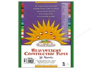"Sunworks Construction Paper 9x12"" HolidayGrn 50pc"