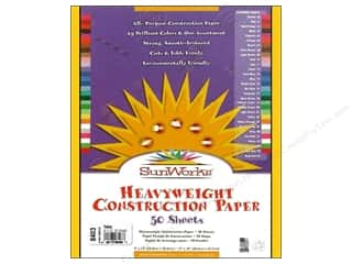 "Sunworks Construction Paper 9x12"" Yellow 50pc"