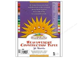 "Sunworks Construction Paper 9x12"" White 50pc"