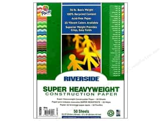 "construction paper: Riverside Construction Paper 9""x 12"" White 50pc"