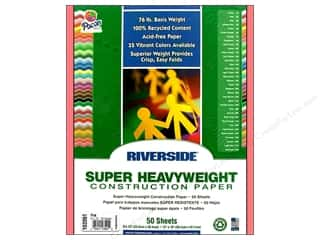 "Riverside Construction Paper 9""x 12"" Pink 50pc"