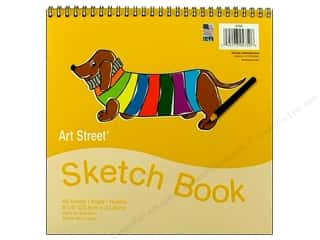 Art Street Art Pad Drawng Sketch Bk 9x9 White 40pc
