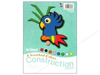 Art Street Cnstrctn Paper Pkg 9x12&quot; Astd 96pc