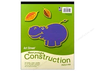Art Street Cnstrctn Paper Pad 9x12&quot; Astd 48pc