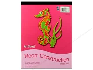 Art Street Cnstrctn Paper Pad 9x12&quot; Neon 20pc