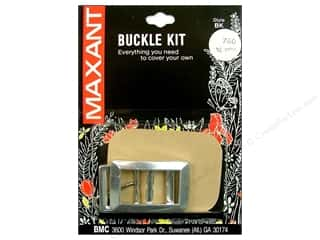 "Buckles Bulk & Cover Buttons: Maxant Cover Buckle Kit 3/4"" Rectangle"