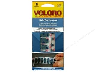 Velcro Adhesive Fasteners Wafer Thin 1 1/4 in Black 40pc