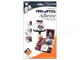 "Fabric 1 Sheet: Therm O Web PeelnStick Double Sided Adhesive 4 Sheets 5 1/2""x 8 3/4"""