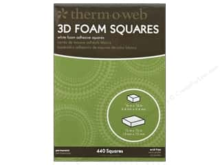therm o web foam adhesive: Therm O Web 3D Foam Squares 1/4 & 1/2 in. Combo Pack 440 pc. White