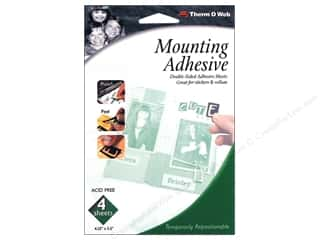 "Therm O Web Mounting Adhesive 4pc- 4.25""x 5.5"""