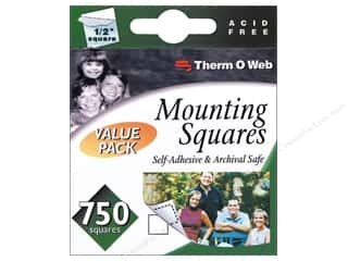 Photo Corners Memory/Archival Tape: Therm O Web Mounting Squares 1/2 in. 750 pc.