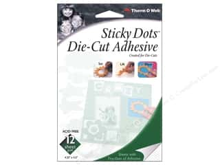 Glue and Adhesives $4 - $5: Therm O Web Sticky Dots Adhesive Sheets 4 1/2 x 5 1/2 in. 12 pc.
