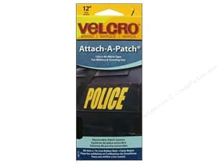 Velcro / Hook & Loop Tape: Velcro Sew On Attach A Patch 4 x 12 in. Black