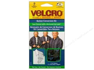 VELCRO brand Button Conversion Kit 7/16&quot; Black