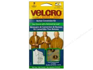 VELCRO brand Button Conversion Kit 7/16&quot; Tortoise