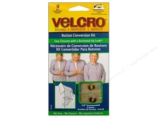VELCRO brand Button Conversion Kit 3/8&quot; Tortoise