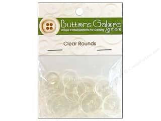 Sewing Construction Clear: Buttons Galore Clear Round Buttons Clear