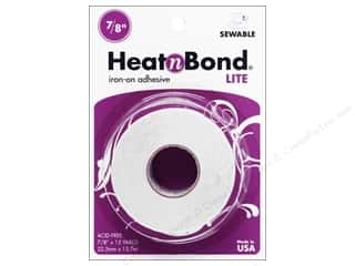 "heat n bond iron-on adhesive: Heat n Bond Lite Iron-on Adhesive 7/8""x 15yd"