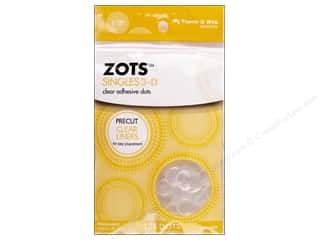 weekly special tacking: Therm O Web Zots Clear Adhesive Dots 125 pc. 1/2 x 1/8 in. Singles 3D