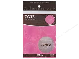 "Weekly Specials Therm O Web Zots: Therm O Web Zots Memory Jumbo 1""x 1/32"" 24pc"