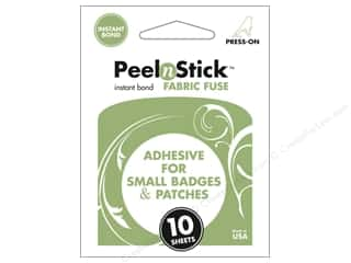 Glue and Adhesives Sheets: Therm O Web PeelnStick Fabric Fuse 2 1/8 x 2 1/2 in. 10 pc.