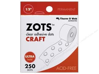 Therm O Web Zots Clear Adhesive Dots All-Purpose 1/16