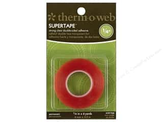 "Glues Adhesives & Tapes: Therm O Web Permanent SuperTape 1/4""x 6 yd Roll"