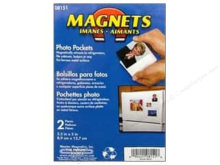 The Magnet Source Magnet Photo Pocket 3.5&quot;x5&quot; 2pc