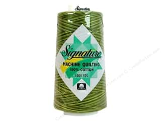 Signature Thread Signature 100% Cotton Quilting Thread 3000yd Vari: Signature 100% Cotton Thread 3000 yd. Variegated #F152 Olive Hues