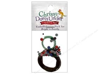Rhinestones Projects & Kits: Pine Needles Embellishment Kit Chrissy Down Under Block #9