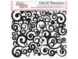 Crafter's Workshop, The: The Crafter's Workshop Template 12 x 12 in. Cosmic Swirl