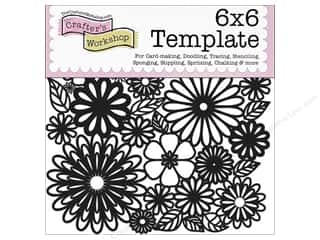 The Crafters Workshop Template 6x6 Flower Frenzy