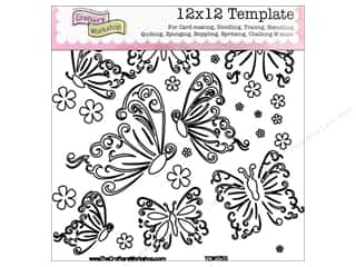 The Crafters Workshop Template 12x12 Butterflies