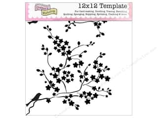 The Crafters Workshop Template 12x12 Cherry Blssms