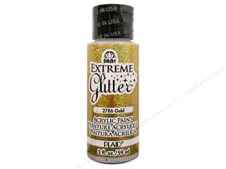 Plaid FolkArt Extreme Glitter Paint 2oz Gold