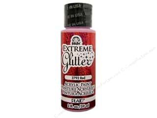 Plaid FolkArt Extreme Glitter Paint 2oz Red