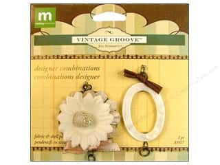 Making Memories Charms: Making Memories Pendant Vintage Groove Design Combo Velvet Flower