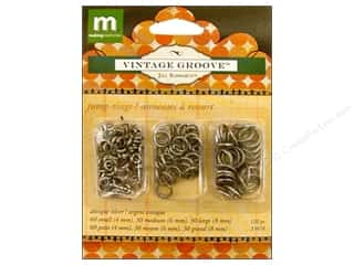 Clearance Blumenthal Favorite Findings: Making Memories Hardware VG Jump Rings Silver
