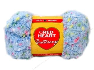 Pom Poms Blue: Red Heart Buttercup Yarn #4276 Light Blue Multi