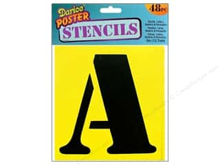 "Darice Stencils Letter/Number 5"" 48pc"