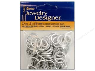 jump rings: Darice Jewelry Designer Jump Rings Aluminum 15mm Silver 72pc