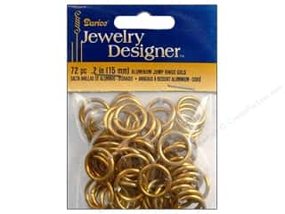 Beading & Jewelry Making Supplies Spring: Darice Jewelry Designer Jump Rings Aluminum 15mm Gold 72pc