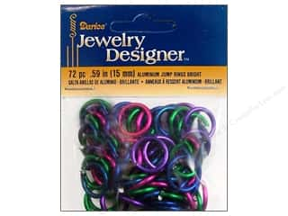 Clearance Blumenthal Favorite Findings: Darice JD Jump Rings Aluminum 15mm Bright 72pc