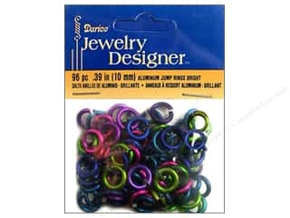 Darice JD Jump Rings Aluminum 10mm Bright 96pc