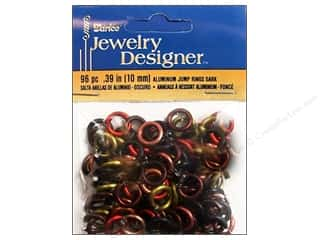 Darice JD Jump Rings Aluminum 10mm Dark 96pc