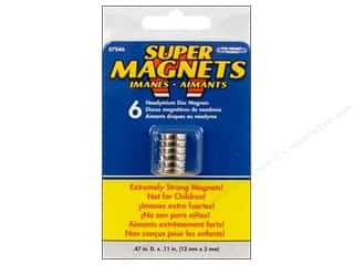 "Basic Components: The Magnet Source Magnet Neodymium Super Disc 1/2"" 6pc"