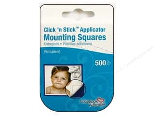 Non-Profits Glue and Adhesives: 3L Scrapbook Adhesives Click 'n Stick Mounting Squares 500 pc. White