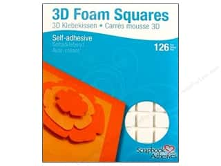 Non-Profits Glue and Adhesives: 3L Scrapbook Adhesives 3D Foam Squares 126 pc. 1/2 in. White