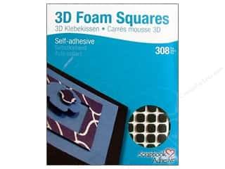 3L Width: 3L Scrapbook Adhesives 3D Foam Squares 308 pc. 1/4 in. Black